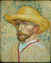 Vincent van Gogh - Self-Portrait With a Straw Hat and Artist's Smock